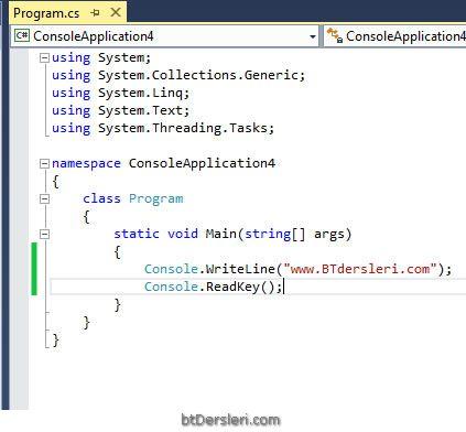 console kodları nereye yazacağım